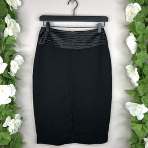 !L'AGENCE Faux woven Skirt